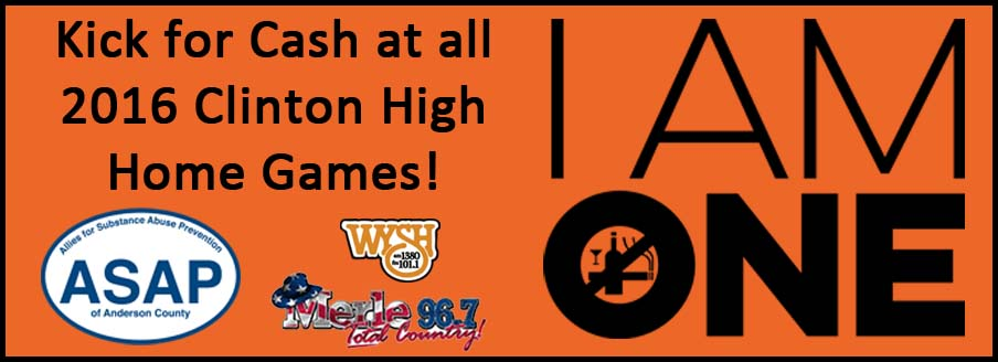 Register to win a chance to Kick for Cash at a Clinton High School home football game!