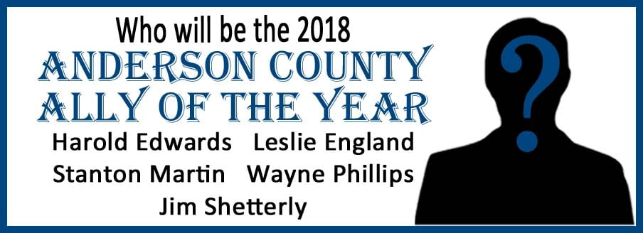 2018 Anderson County Ally of the Year!