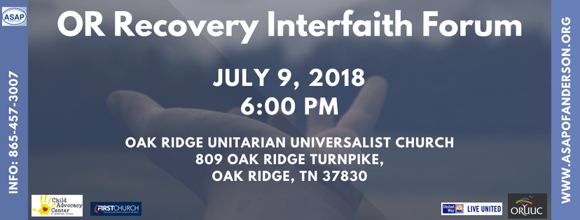 ASAP Partners with Interfaith Community on Recovery Forum