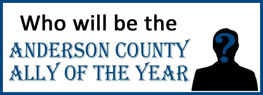 Nominations being accepted for Anderson County Ally of the Year until November 30th!